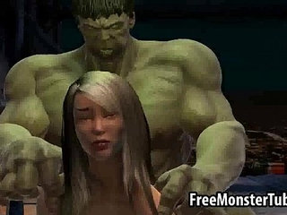 Foxy 3D babe gets fucked by The Incredible Hulk high | 3dbabeincredible