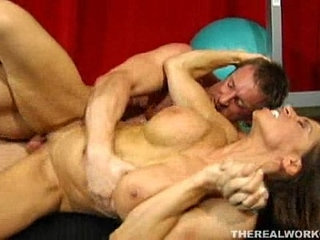 Nicely muscled chick fucked hard by her new fitness trainer | chickfitnessmuscle