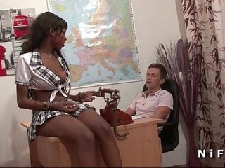 Pretty french black student hard banged by her teacher in classroom | bangedblackclassroomfrenchprettystudents