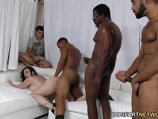 Sara jay gets ganbanged by black dudes in front of her son   blackdudeson