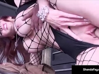 Horny housewife shanda fay fucks in her paint and body shop   hornyhousewifeshop