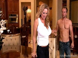 Huge titted hot wife sucks and fucks her younger husband | husbandold and youngtitjobwife