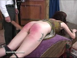 Angry words over her spanking   spanking
