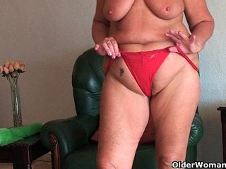 Chubby granny with saggy big tits and plump ass spreads pussy   assbig titschubbyplumppussy