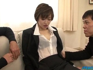 Great office xxx play for lustful Akina Hara   office