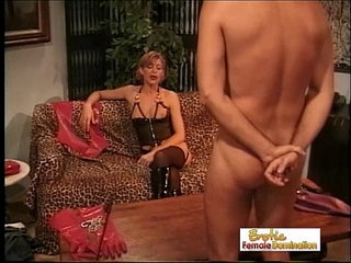 Mistress Disciplines Her New Paying Client | mistress