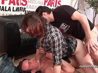 Hard casting french redhead analized and double penetrated with a good facial | castingdoublefacialsfrenchredhead