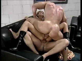 two muscle studs fuck insatiable busty blonde | blondebustymusclestudents