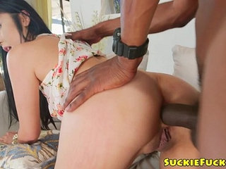 BBC loving japanese buttfucked on couch | bbccouchjapanese
