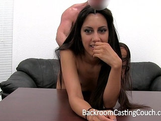 Persian Squirter Anal Fail Creampie Win on Casting Couch | analcastingcouchcreampie